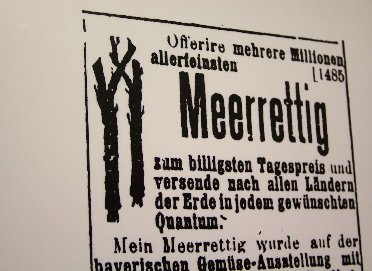Historische Meerrettich-Werbung