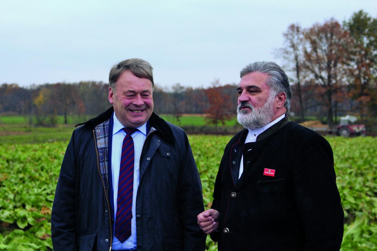 Bayerns Landwirtschaftsminister Helmut Brunner und Hanns-Thomas Schamel