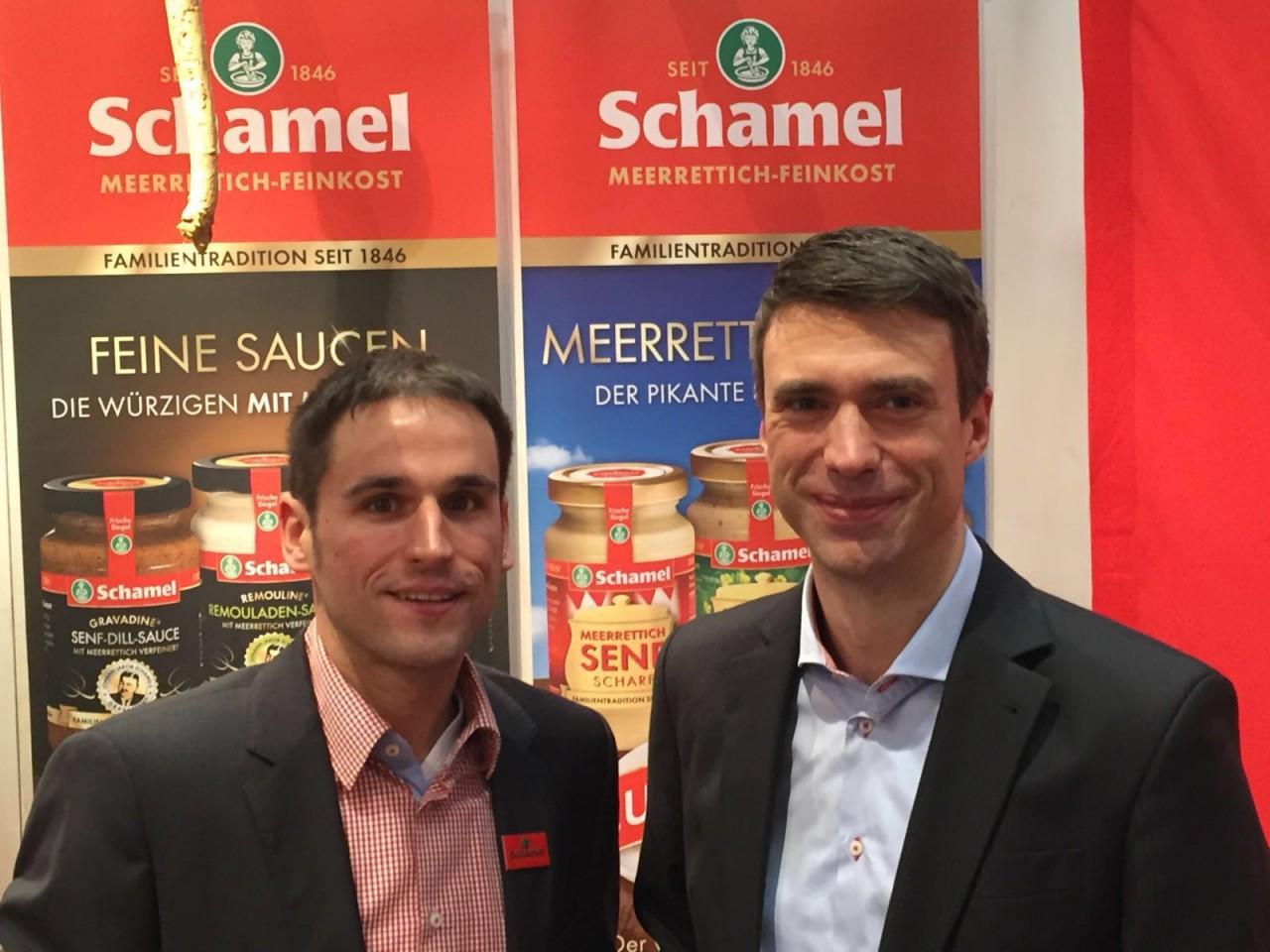 Der Erlanger Bundestagsabgeordete Stefan Müller (CSU) mit Matthias Schamel (l.).